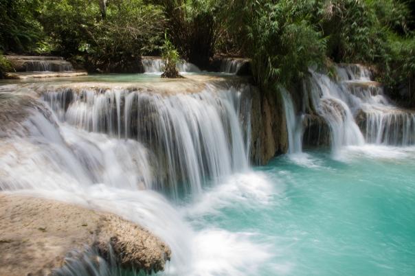 Waterfalls just outside of Luang Prabang.  Photo by Ben Robinson.