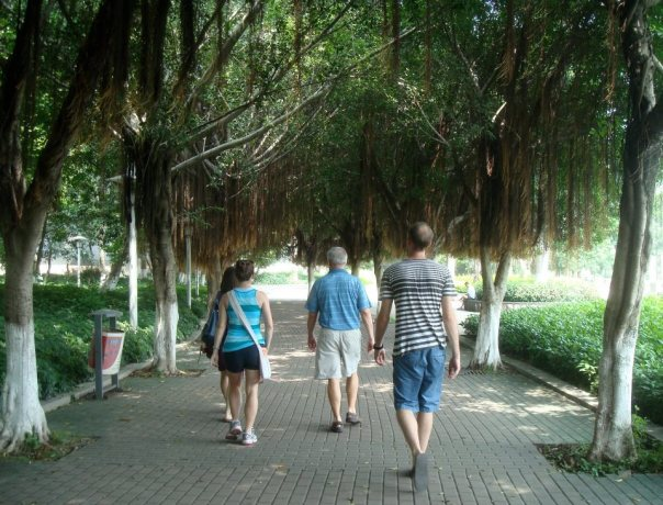 Riverwalk with my family in Nanning, China.