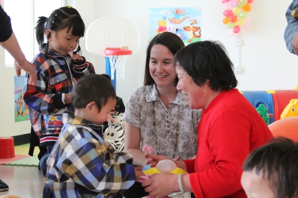 More visiting with foster parents and kids in Hubei.  Photo by Jason Fouts.