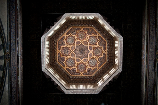 Light streaming through the top of a mosque.  Cairo, Egypt.  All photos by Ben Robinson.