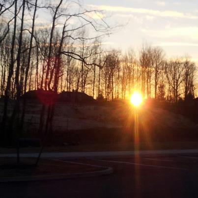 Sunrise in New Jersey.