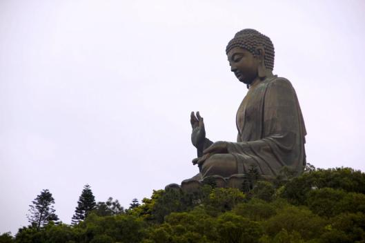 The Giant Buddha on Lantau Island, Hong Kong.  All photos by Evan Schneider.
