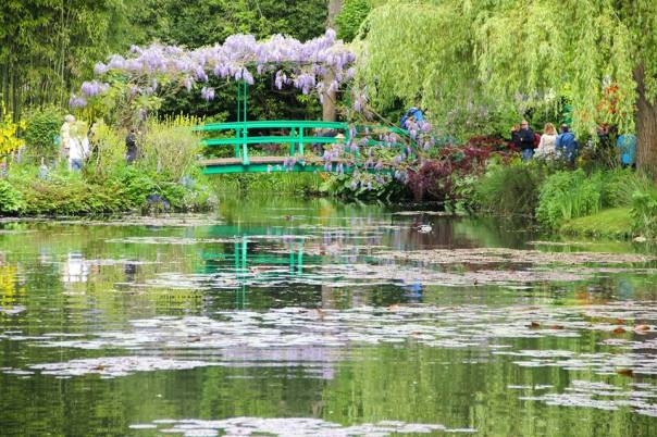 The Japanese bridge at Giverny, France in Monet's Garden.  All photos by Evan Schneider.