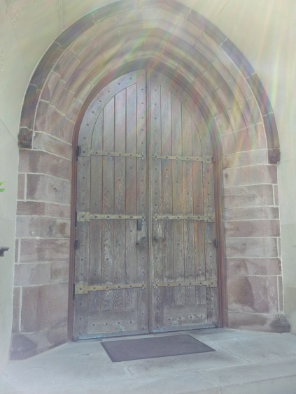 A church door in downtown Princeton.