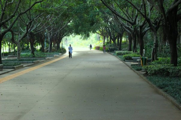 Beside South Lake Park in Nanning, China.