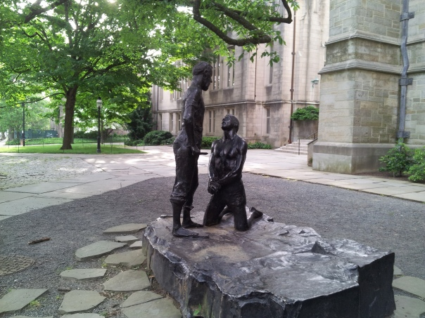 Rodin Abraham and Isaac sculpture on Princeton University campus.  My photo.