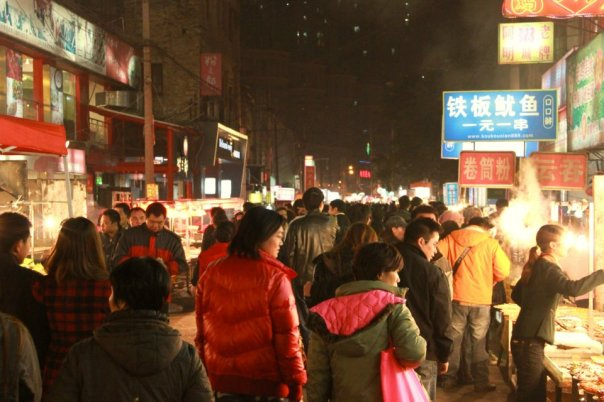 The bustling night market in Nanning.  All photos by Evan Schneider.
