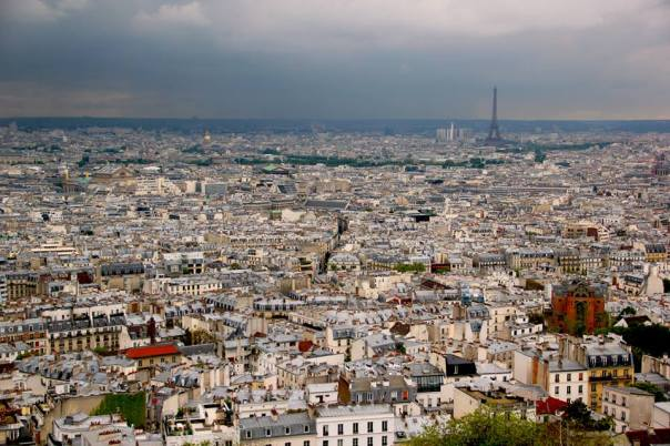 The view from Sacre Coeur.  Photo by Evan Schneider.