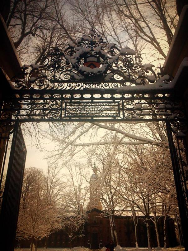 Pretty Princeton in the glow of snow.  Photo by Serena Stein.