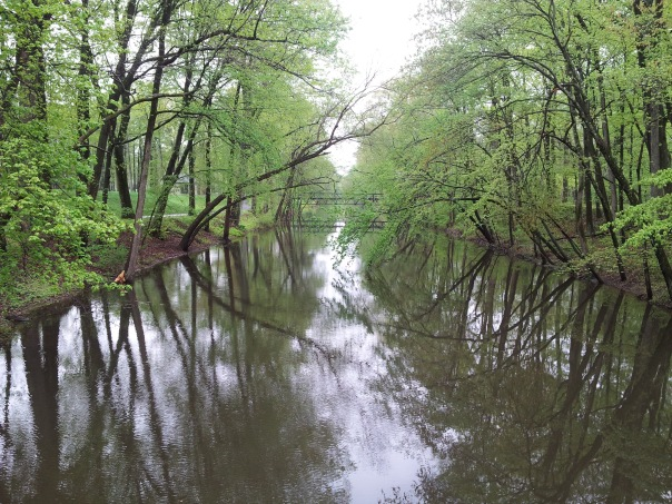 The Delaware Raritan Canal at the height of spring.  My photo.