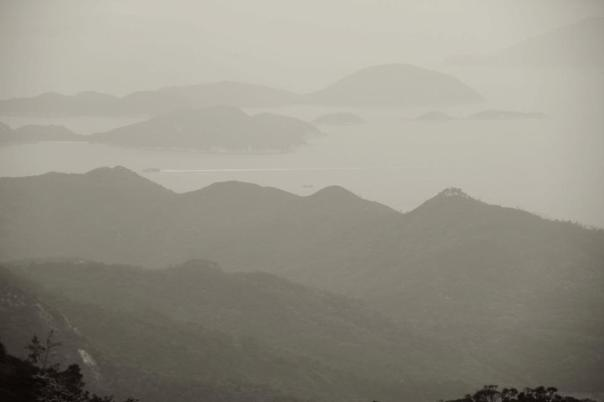 The view from Lantau Island, HK.  Photo by Evan Schneider.