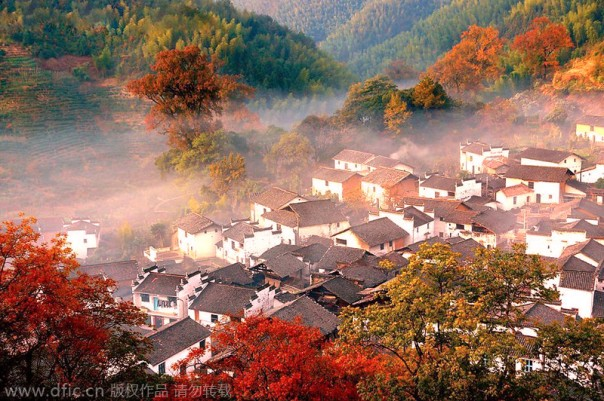 Fall in gorgeous Jiangxi, China.
