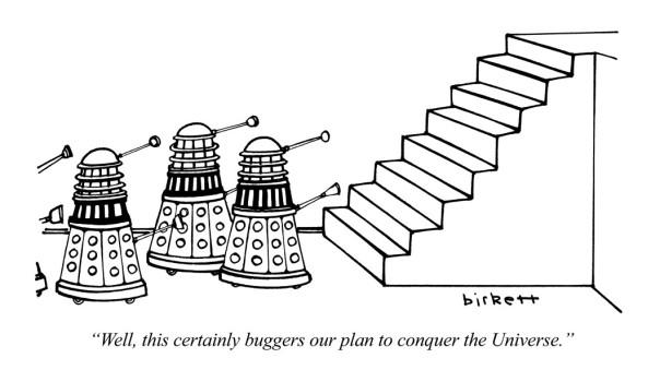 science-tv-dr-who-daleks-cartoons-punch-magazine-birkett-1981-08-05-235
